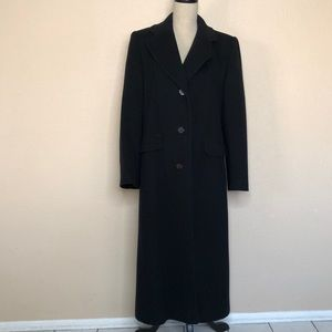 Talbots Long Wool Black Coat